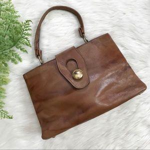 Vintage 60s Margolin Brown Handbag Evening Purse